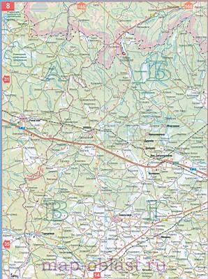 Большая карта автодорог житомирской