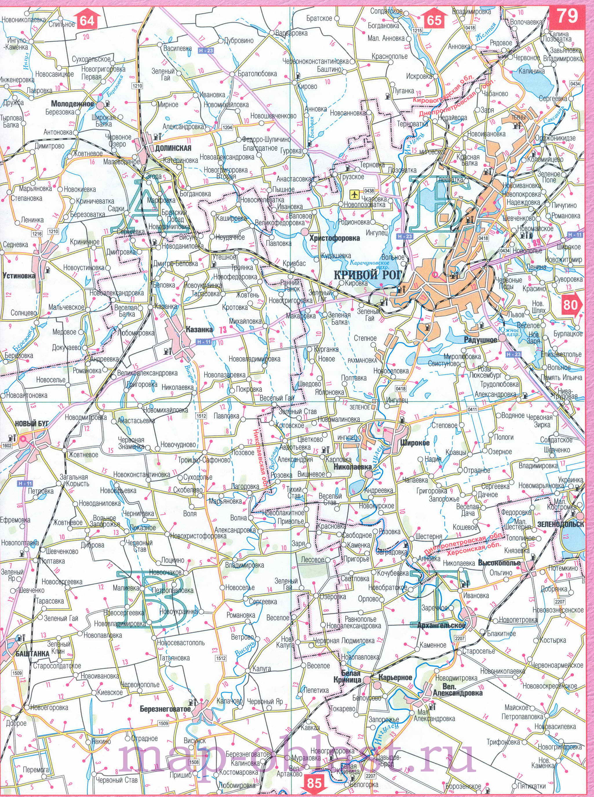 Карта дорог Херсонской области, южная Украина. Подробная ...: http://map-oblast.ru/map743745_0_0.htm