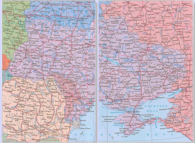 Карта украины политическая подробная