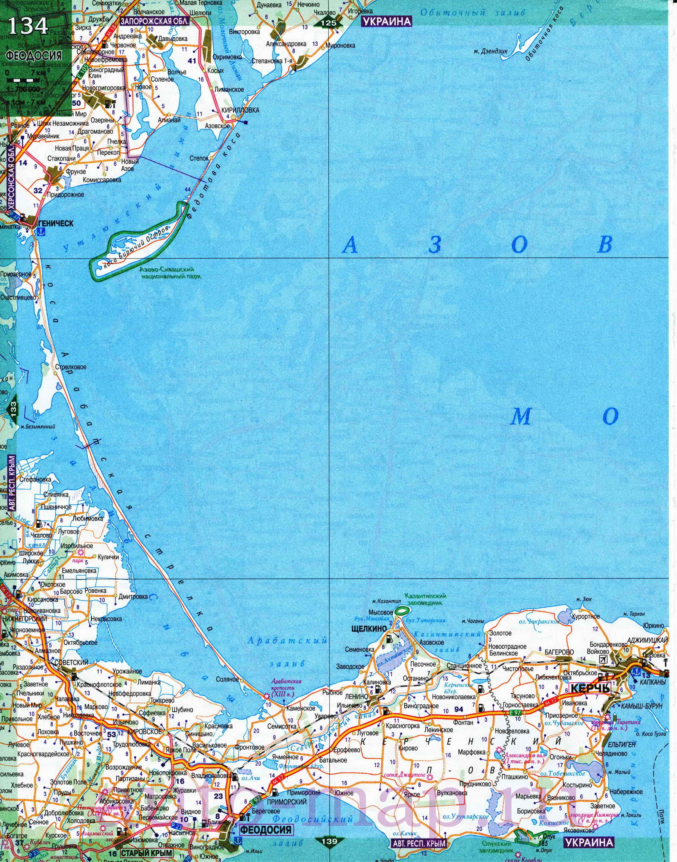 Карта побережья Азовского моря. Подробная карта Азовского ...: http://map-oblast.ru/map824758_0_1.htm
