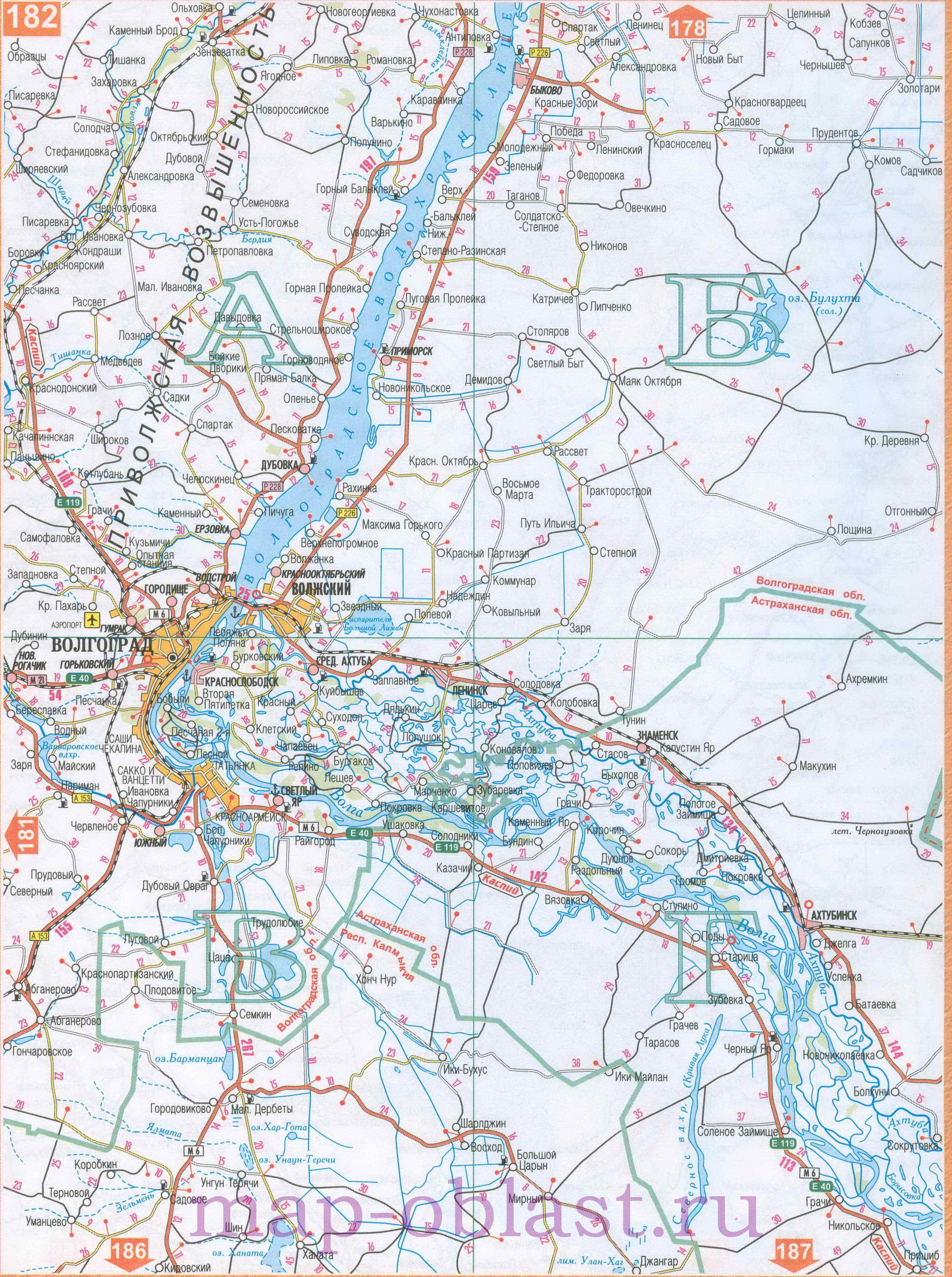 Карта России Карты автомобильных дорог России Карта