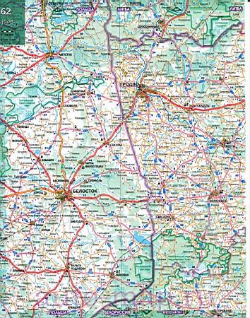 Большая карта белоруссии подробная