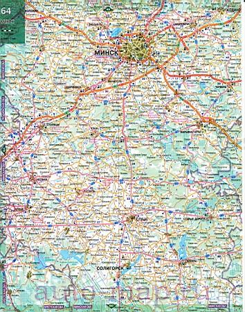 Карта автодорог белоруссии с